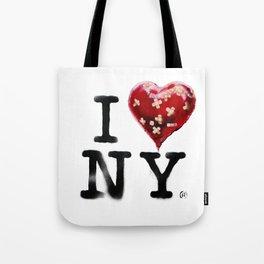 Banksy * I Love New York Tote Bag