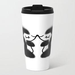 Hugs & kisses, Little skunk  Metal Travel Mug