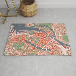 Copenhagen city map classic Rug