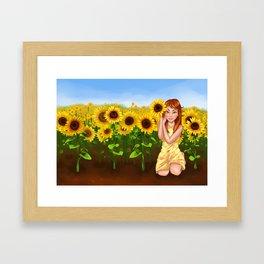 Sunflower Garden Framed Art Print