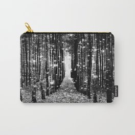 Magical Forest Black White Gray Carry-All Pouch