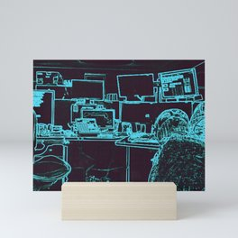 9-1-1 blue Mini Art Print
