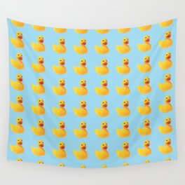 HOMEMADE RUBBER DUCK PATTERN Wall Tapestry