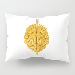 Pencil Brain Pillow Sham