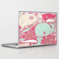 whales Laptop & iPad Skins featuring Whales by Amy Gale