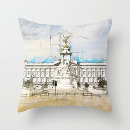 Buckingham Palace, London England Throw Pillow