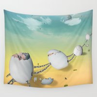 whimsical Wall Tapestries featuring whimsical by mark ashkenazi
