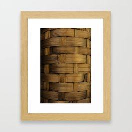 wooden basket Framed Art Print
