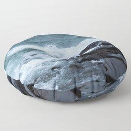 Great Lake Waves Floor Pillow