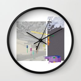 Industrial colour Wall Clock