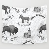 political Wall Tapestries featuring Political Toile by Jessica Roux