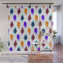 Homebody Pattern - Introvert Day and Night Wall Mural