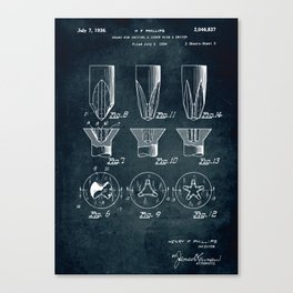 1934 - Means for uniting a screw with a driver Canvas Print