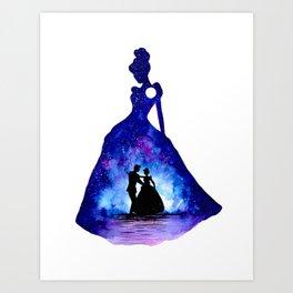 Cinderella Double Exposure - Dancing Art Print