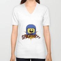 spaceship V-neck T-shirts featuring Spaceship!  by Brieana