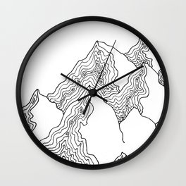 ii - mountains Wall Clock