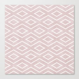 Stitch Diamond Tribal in Pink Canvas Print