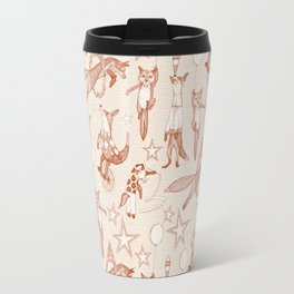 foxy circus rust ivory Travel Mug