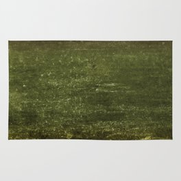 Gold, Emerald & Magenta Ombre Canvas Rug