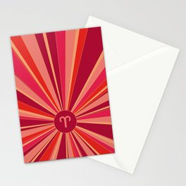 Aries - Zodiac colors series Stationery Cards