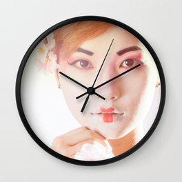 Geisha In Sunlight Wall Clock