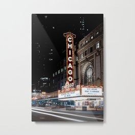 The Chicago Theater Metal Print