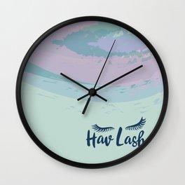 Hav Lash Wall Clock