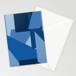 Blu-Geometric Stationery Cards