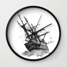 wrecked ship Wall Clock