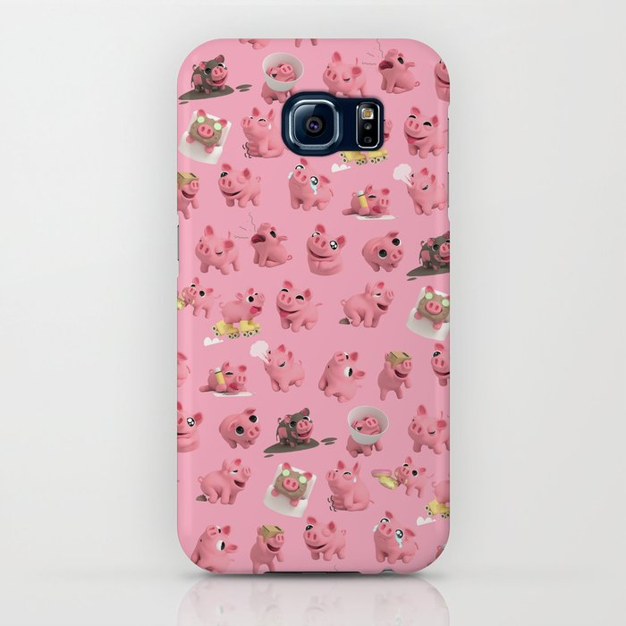 Rosa the Pig Pattern iPhone Case