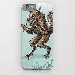 Werewolf illustration iPhone Case