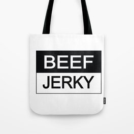 Beef Jerky Black and White Tote Bag