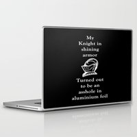 knight Laptop & iPad Skins featuring KNIGHT by I Love Decor
