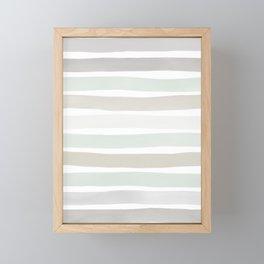 Watercolor Stripes Hues of Grey by Friztin Framed Mini Art Print