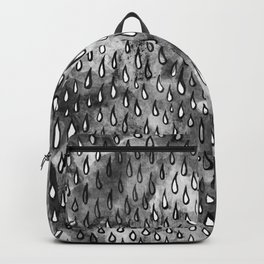Grey Raindrops Backpack