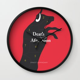 Ernest Hemingway book Cover & Poster - Death in the Afternoon Wall Clock
