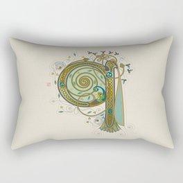 Celtic Initial Q Rectangular Pillow