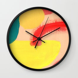 Abstract Figures Wall Clock
