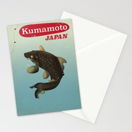 Kumamoto Japan vintage travel poster Stationery Cards