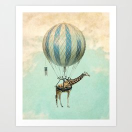 Sticking your neck out, giraffe Art Print