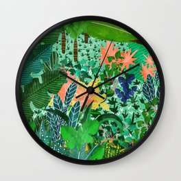 Dense Forest Wall Clock