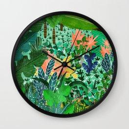 Dense Forest Wall Clock