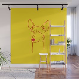 Ibizan Hound (Yellow and Red) Wall Mural