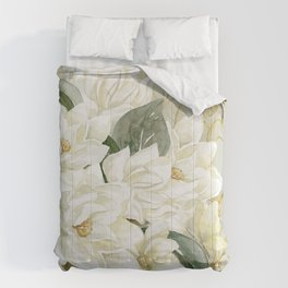 Elegant Magnolias – with a Touch of Gold Comforters