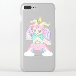 Born Again Satanist Clear iPhone Case