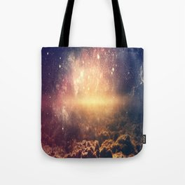 Abstract Clouds And Space Galaxy Tote Bag