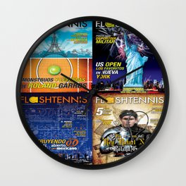 Tennis Magazine Covers Wall Clock