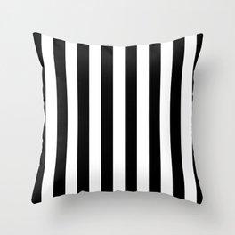 Parisian Black & White Stripes (vertical) Throw Pillow