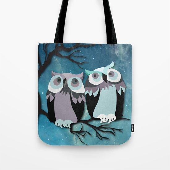 Owls In Moonlight Tote Bag