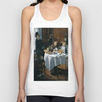 monet Tank Tops featuring The Luncheon - Claude Monet - 1868 by Paulrommer